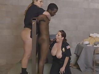 Two cops pounded by horny black dude