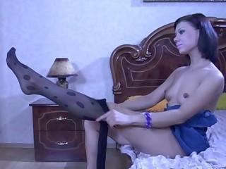 LilyC in pantyhose movie