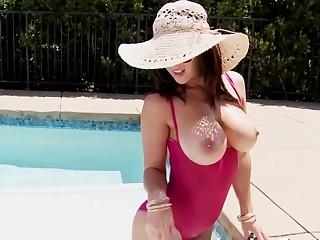 Poolside Masturbation