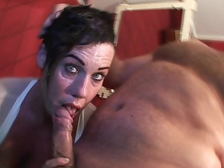 Kinky mature slut sucking and fucking