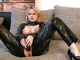 Horny and Sexy in Black pvc