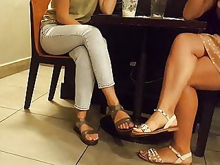 Crossed sexy legs, sexy feets toes