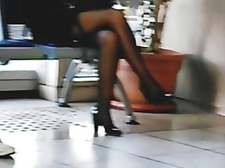 Blonde Black Pantyhose