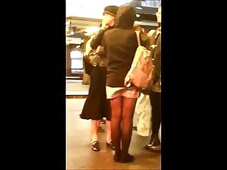 Candid Teen Naughty Windy Miniskirt