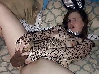 Hotwife using bbc dildo