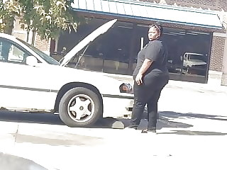 SBBW Wide Big Black Booty caught me outside filming