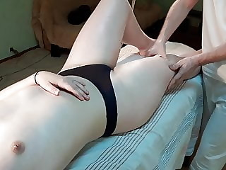 Giant Basketball Player Girl Gets Full Body Massage. Part 3