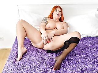 Euro milf Alex dildo fucks her tasty twat
