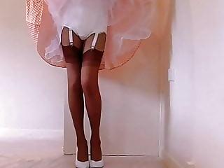Retro Pantygirdle With Nylon Stockings